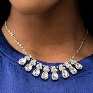 Sparkly Ever After White Rhinestone Necklace
